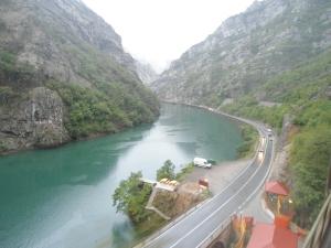 Vista do trem para Mostar