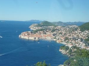 Dubrovnik - da janela do ônibus